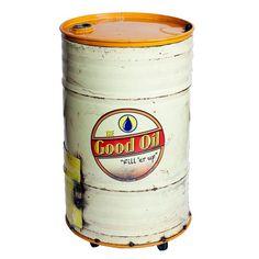 The Good Oil Buddy Barrel Cooler You Drive Me Crazy, Metal Drum, Barrel Furniture, Oil Drum, Best Oils, Pvc Pipe, 5 D, Drums, Recycling