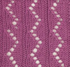 Zig Zag Ribs is another stitch found in the Estonian Lace category.