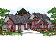 New American House Plan with 3800 Square Feet and 4 Bedrooms from Dream Home Source | House Plan Code DHSW40212