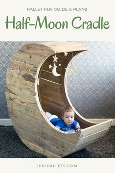"This tutorial by Jochem Dijkstra in collaboration with 1001Pallets will describe how to make the world famous half-moon cradle out of three repurposed wooden pallets. This half-moon cradle is inspired by ""Le Berceau lune d'Heidi"" from Crème Anglaise. You can purchase the cradle directly in their e-shop."