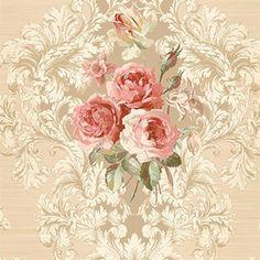 Vesper Floral Wallpaper by Seabrook Wallpaper Shabby Chic Wallpaper, Victorian Wallpaper, Go Wallpaper, Damask Wallpaper, Pattern Wallpaper, Wallpaper Borders, Wallpaper Online, Discount Wallpaper, Traditional Wallpaper