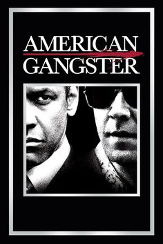 American Gangster Movie Poster - Denzel Washington, Russell Crowe, Chiwetel Ejiofor  #AmericanGangster, #MoviePoster, #Drama, #RidleyScott, #ChiwetelEjiofor, #DenzelWashington, #RussellCrowe