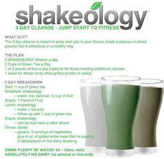3 day Shakeology cleanse explained