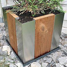 <3  Edelstahl/Holz Pflanzkübel Cubus34, YERD  Made in Germany, Lagerverkauf http://www.gartendeko-direkt.de/images/Edelstahl-Pflanzbehaelter.pdf