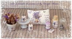 Decoration SET LAVENDER dollhouse miniature by by SorayaMiniatures