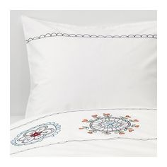 VÄNSKAPLIG Duvet cover and pillowcase(s), white embroidery white embroidery Twin