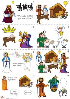 Teacher's Pet - Nativity story sequencing (colour) - FREE Classroom Display Resource - EYFS, (With images) Preschool Christmas, Christmas Nativity, Christmas Activities, A Christmas Story, Christmas Themes, Kids Christmas, Christmas Crafts, Christmas Printables, Christmas Markets
