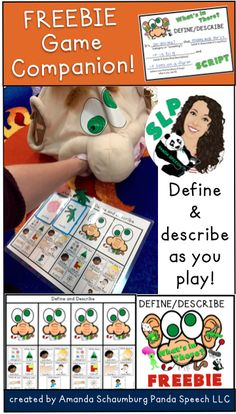 FREE language companion for What's in Ned's Head Game Speech Activities, Speech Pathology, Speech Therapy Activities, Speech Language Pathology, Language Activities, Speech And Language, Learning Activities, Receptive Language, Semantic Language