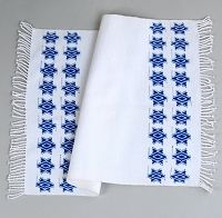White Challah Cover with Blue Stars
