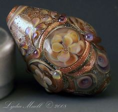 Fine Lampwork by Lydia Muell, Gallery of Lampwork Focal Beads~~~rainy day in venice #2~~~