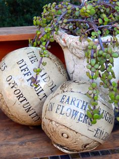 Inspirational+Clay+globe+with+quote+In+The+by+TheImpatientPotter,+$30.00