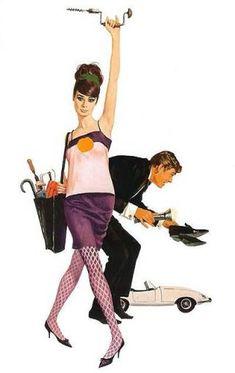 Illustration Robert McGinnis Audrey Hepburn Peter O'Toole How to Steal a Million Robert Mcginnis, Pulp Fiction Art, Pulp Art, Peter O'toole, Pin Up Art, Grafik Design, Old Movies, Up Girl, Cover Art