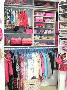 Tiny closet organization kids clothes 17 Ideas for 2019 Double Closet, Reach In Closet, Build A Closet, Kid Closet, Closet Bedroom, Closet Space, Closet Ideas, Entryway Closet, Bathroom Closet