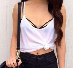 Black Cutout Bralette Bra