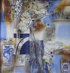 Conceptual Art, Silk Painting, Watercolor And Ink, Shibori, Picasso, Still Life, Christmas Cards, Watercolours, Color Combinations