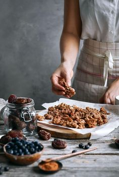 Easy whole30 and paleo cinnamon date granola. ~Minus the Vanilla Extract