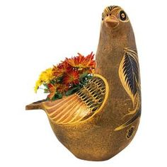 NEW! Bring the southwest to your home with this beautiful ceramic Dove Planter. Each of our rustic Mexican clay planters are hand-crafted by master artisans in Jalisco, Mexico.