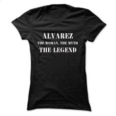 ALVAREZ, the woman, the myth, the legend - #pink sweater #blue sweater. CHECK PRICE => https://www.sunfrog.com/Names/ALVAREZ-the-woman-the-myth-the-legend-kicbgcygzh-Ladies.html?68278