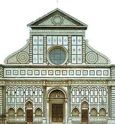 Santa Maria Novella, la façade modifiée 1458-1470, Leon Battista Alberti