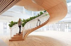 Paul Cocksedge built a staircase for Ampersand, a London office conversion byDarling Associates.