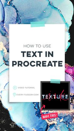 In this week& tutorial, I& sharing an easy way to create artwork with text in Procreate, as well as sharing some masking tips, too! Watercolor Kit, Affinity Designer, Ipad Art, Lettering Tutorial, Graphic Design Tutorials, Computer, Creations, Youtube, Tuesday