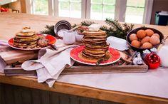 Cristina Ferrare's Best Buttermilk Pancakes & Homemade Breakfast Sausage