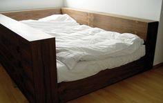 Walnut Veneered Bed by Metrofarm