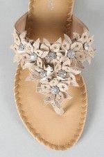 Bamboo Swish-01 Floral Thong Flat Sandal