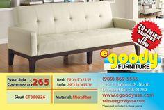 futon sofa bed beige contemporary