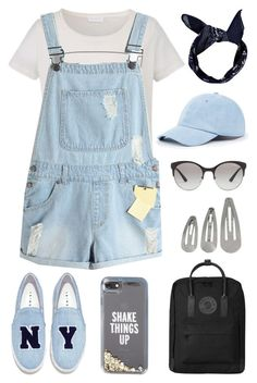 """""""Denim Shake"""" by bambiwinchester ❤ liked on Polyvore featuring Joshua's, Vogue Eyewear, Kate Spade, Fjällräven, Sole Society and Boohoo"""