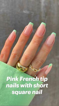 Colored Acrylic Nails, Acrylic Nails Coffin Short, Pastel Nails, Blue Nails, Colored French Nails, One Color Nails, Short Square Acrylic Nails, Colorful Nails, White Nails