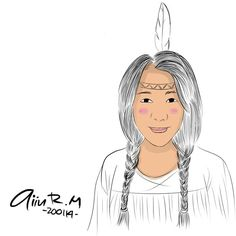 selfie draw... me like a indian girl