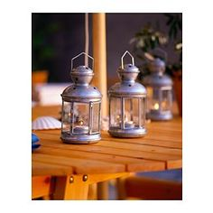 ROTERA Lantern for tealight - IKEA centerpiece idea??? comes in other colors