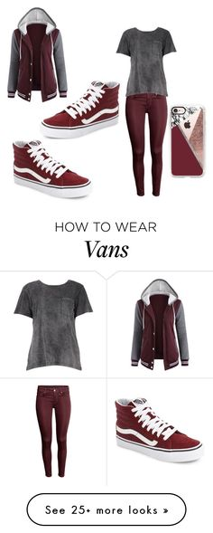 """""""Burgundy is the Best."""" by mindy-mcadams on Polyvore featuring Vans, Boohoo and Casetify"""