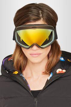 4ee9c8f07bf73 FENDI Mirrored ski goggles. Black polycarbonate