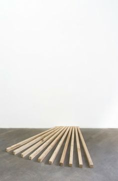Julien Bismuth Wholes and parts, 2011 wood Bismuth, Garden Tools, Facade, Architecture, Wood, Arquitetura, Woodwind Instrument, Timber Wood, Facades