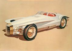 Virgil M. Exner Design Drawing for the Cobra-Mercer Concept Car, 1964
