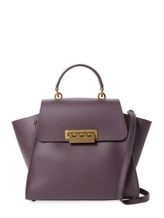 Eartha Iconic Small Leather Top Handle Satchel from Nine-to-Five Style on Gilt