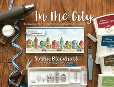 In The City Hostess Set for TTTC004 - Welcome to the Neighborhood Card for Tic Tac Toe Challenge 004 Details and Inspiration on my blog!