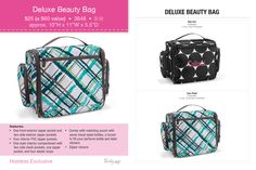New! Deluxe Beauty Bag Available Sept 1, 2013