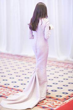Yasmin Johan Soh's songket dress by Syomir Izwa