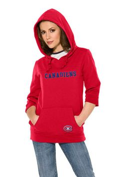 Montreal Canadiens Women's Laser Cut Sleeve Pullover Hoodie - Touch by Alyssa Milano New York Islanders, New York Knicks, New York Jets, Montreal Canadiens, Sport Outfits, Cute Outfits, Cubs Team, St Louis Rams, Denver Nuggets