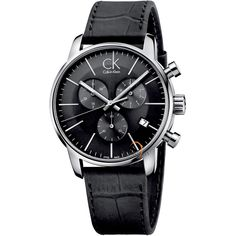 Calvin Klein City Silver Bracelet Chronograph Men's Watch - - The Watches Men & Co - 1 Ck Calvin Klein, Calvin Klein Watch, Calvin Klein Models, Best Watches For Men, Cool Watches, Stylish Watches, Casual Watches, Hermes, Skeleton Watches