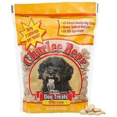 Charlee Bear Dog Treats with Liver 16 oz Resealable Bag (00787108961906) Flavorful and nutritious treats contain only three calories each! All natural nuggets with the great taste of liver have no preservatives, no artificial color, and no added sugar. Dry, compact snacks are perfect for carrying in your pocket as a training reward that doesn't leave behind smells, crumbs, or greasy stains.