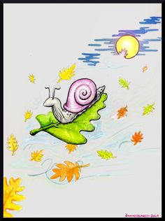 Aquarelle on Paper a selection of previous MushroomBrain artwork: Riding the Wild Wind of Autumn Surrealism, Snoopy, Deviantart, Fantasy, Autumn, Artwork, Fictional Characters, Work Of Art, Fall
