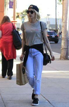 Emma Roberts Shopping in LA, 12/02/15