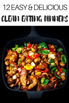 Looking for quick and easy keto dinner recipes? Check out this collection of ketogenic dinners you can make in 30 minutes or less! Whether youre looking for low carb chicken fish or shrimp or keto friendly beef pork steak or hamburger youll find a Clean Eating Recipes For Dinner, Low Carb Dinner Recipes, Keto Dinner, Diet Recipes, Healthy Recipes, Eating Clean, Quick Recipes, Chicken Recipes, Healthy Family Meals