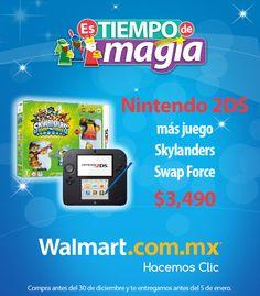 Te presentamos este paquete de Nintendo 2DS con el juego Skylanders a un precio de $3,490 Hazlo tuyo hoy mismo.