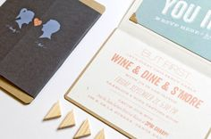Oh So Beautiful Paper: Marissa + Mike's Whimsical Silhouette Wedding Invitations
