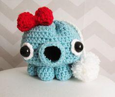 INSTANT DOWNLOAD kawaii takochu octopus drawstring by HELLOhappy